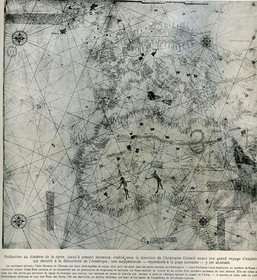 Mappemonde de Christophe Colomb en 1924