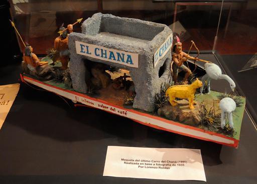 Maquette de char de Carnaval de Chana  en 1935