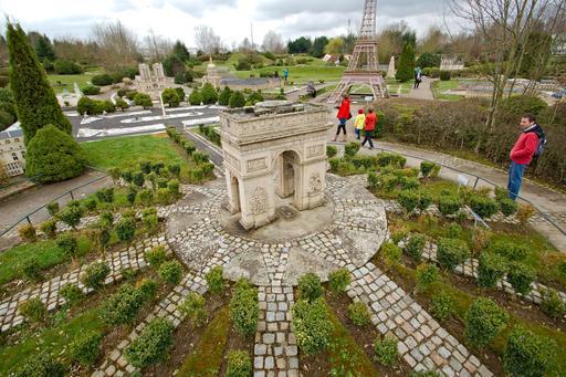 Maquette de l'Arc de Triomphe à France Miniature