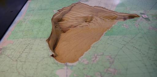 Maquette de l'étang de Sanguinet
