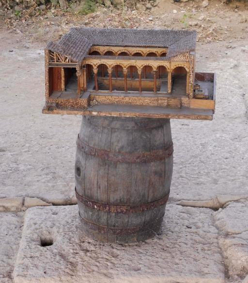 Maquette de la villa gallo-romaine de Loupiac-33