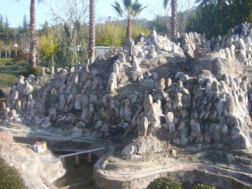 Maquette de Montserrat en Catalogne