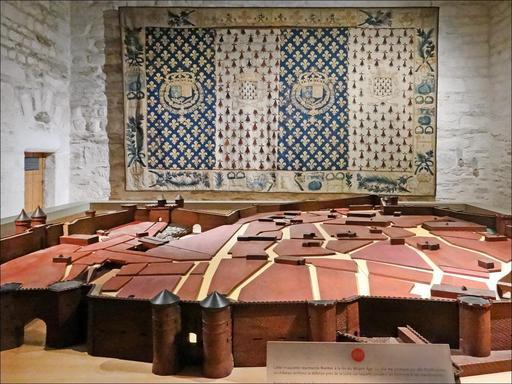 Maquette de Nantes au Moyen Âge