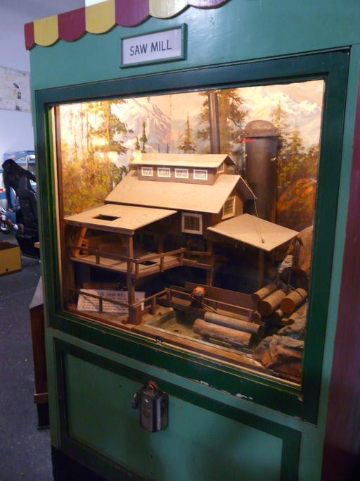 Maquette de scierie au Musée Mécanique de San Francisco