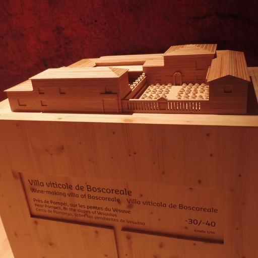 Maquette de villa viticole à la Cité du Vin