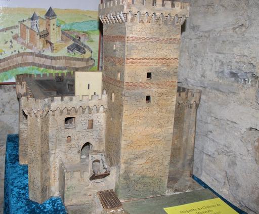 Maquette du château de Mauvezin
