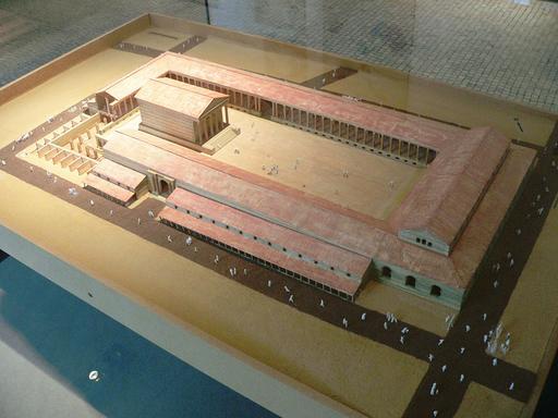 Maquette du forum de Lutèce
