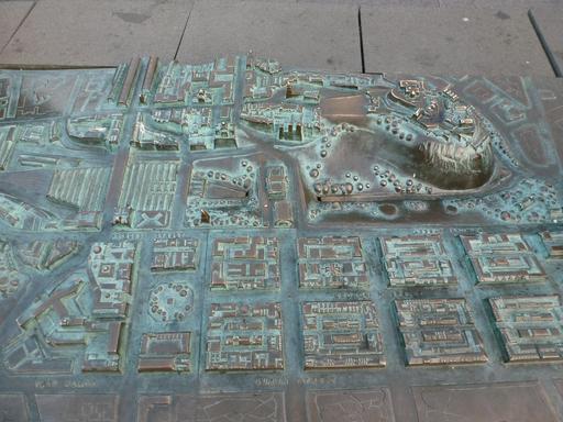 Maquette du plan en relief d'Édimbourg