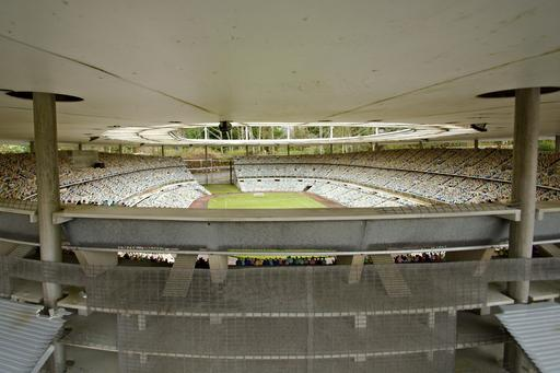 Maquette du stade de France à France Miniature