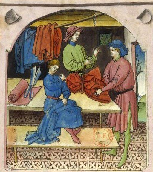 Marchand de vêtements de soie