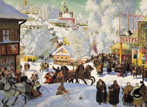 Mardi gras orthodoxe en Russie en 1919