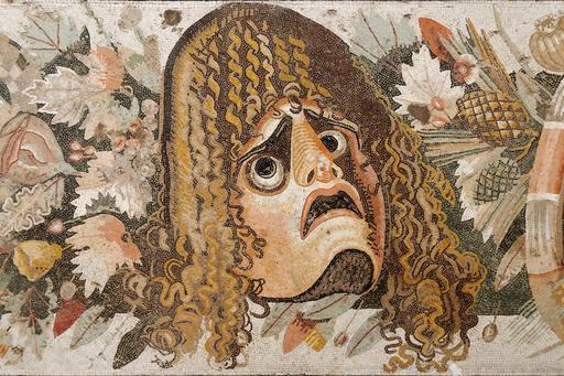 Masque d'acteur tragique romain