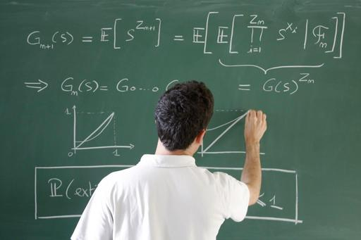 Mathématiques au tableau et à la craie