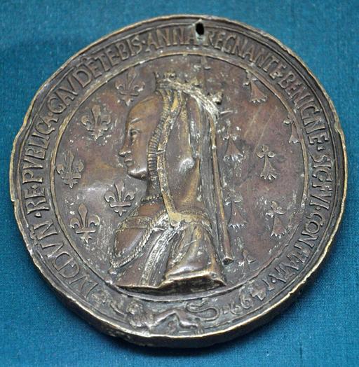Médaille d'Anne de Bretagne en 1499
