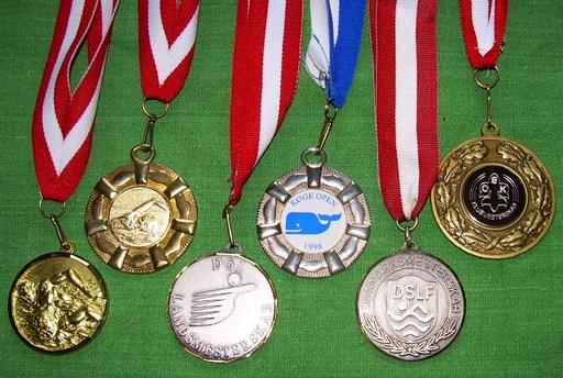 Médailles de natation