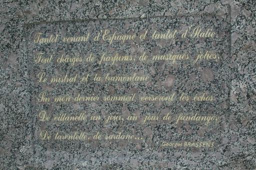 Mémorial de Brassens à Sète