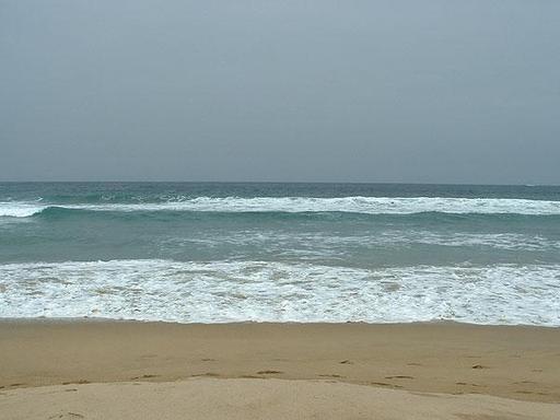 Mer vue de la plage