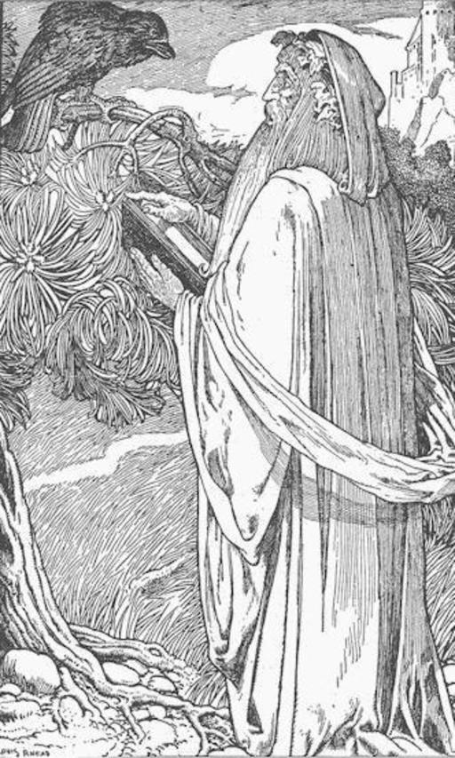 Merlin et le merle noir