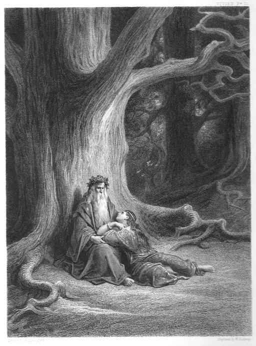 Merlin l'enchanteur et la fée Viviane