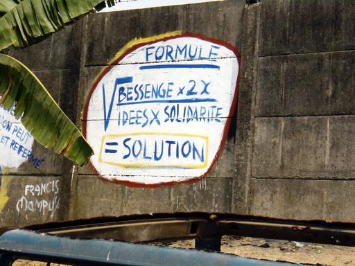 Message mathématique à Douala