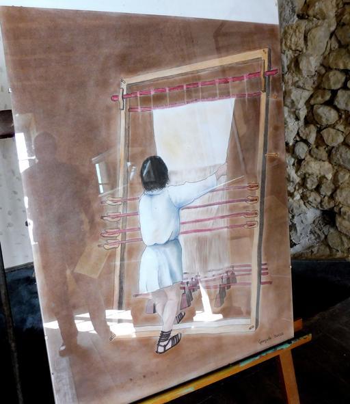Métier à tisser de la villa gallo-romaine de Loupiac-33