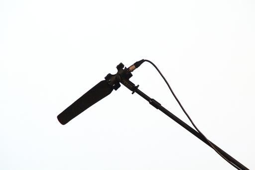 Microphone sur perche