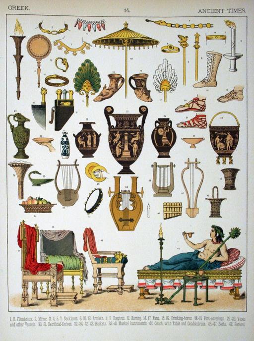 Mobilier grec antique