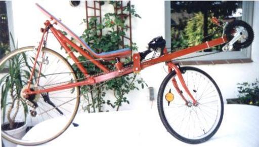 Modèle de vélo couché