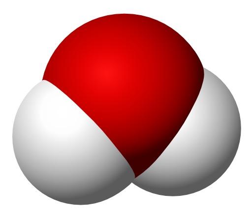 Molécule d'eau en 3D
