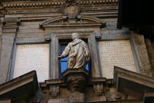 Monument à Ausone à Milan