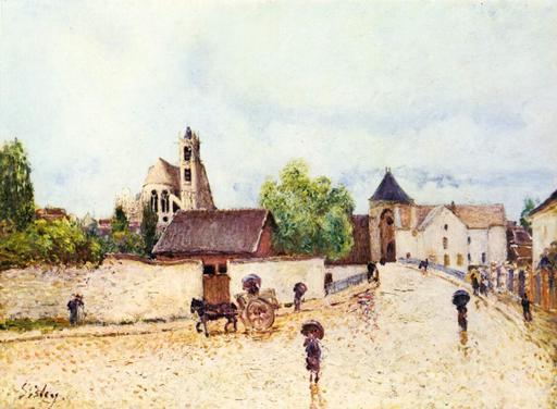 Moret-sur-Loing sous la pluie