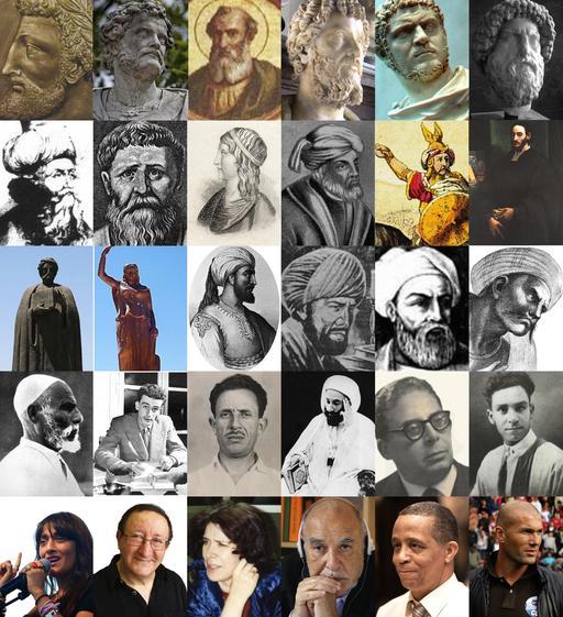 Mosaïque de personnalités maghrébines
