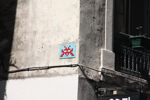 Mosaïque de Space invader à Lyon