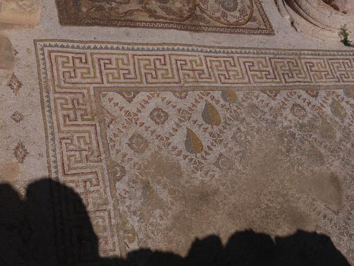 Mosaïque géométrique byzantine à Jerash