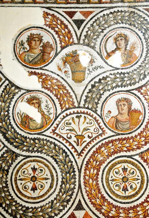 Mosaïque romaine des quatre saisons