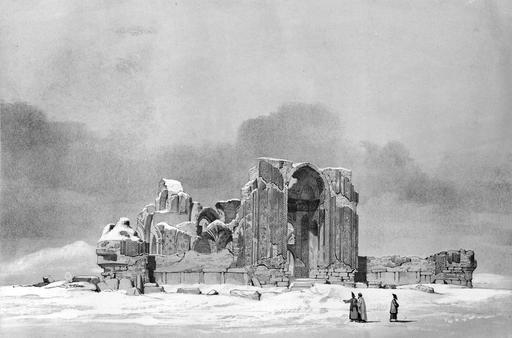 Mosquée en ruines à Tabriz en 1840
