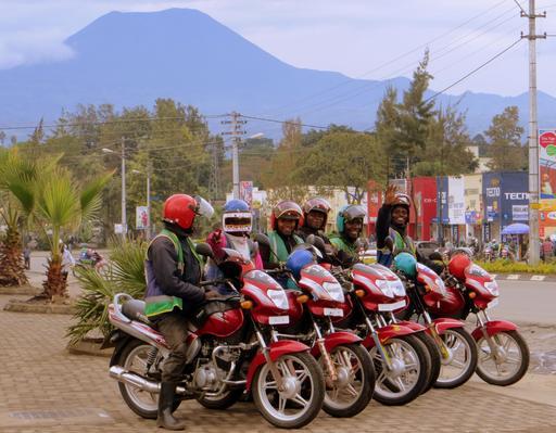 Motards au Rwanda
