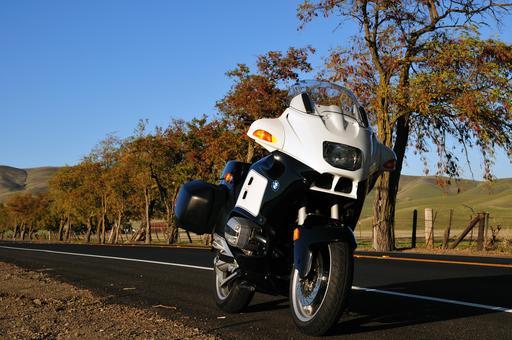 Moto à l'arrêt