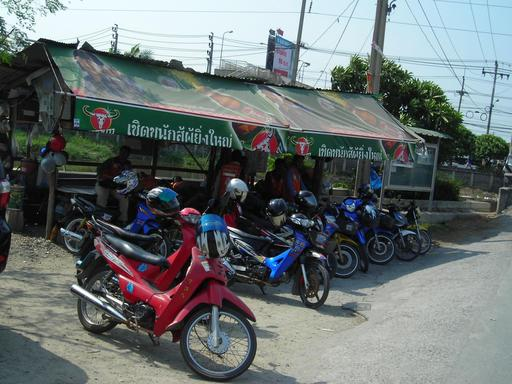 Motos-taxis en Thaïlande