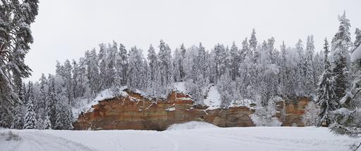 Mur d'arénite en Estonie