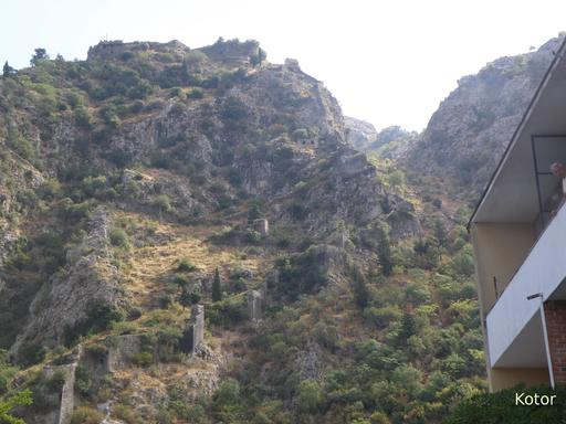 Murailles de Kotor au Monténégro