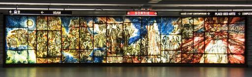 Murale en verre sur l'histoire de la musique
