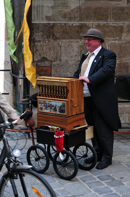 Musicien de rue à Vienne