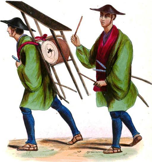 Musiciens de l'infanterie japonaise en 1843