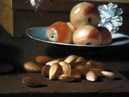 Nature morte aux pommes et amandes