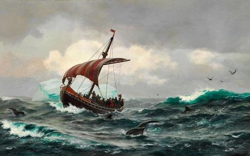 Navire viking au Groenland en l'an 1000