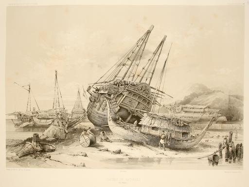 Navires malais en 1838
