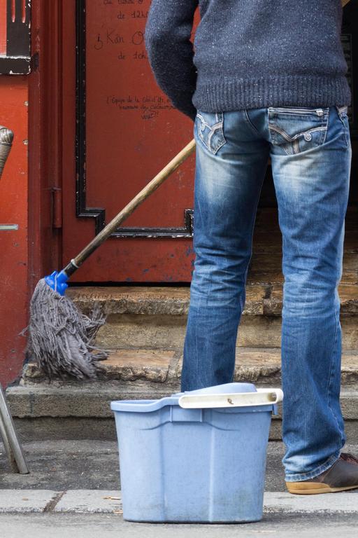 Nettoyage des marches