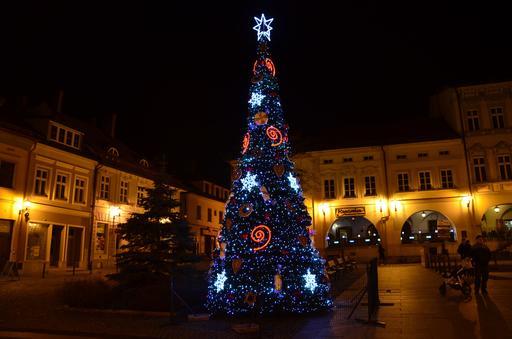 Noël en Pologne de nuit