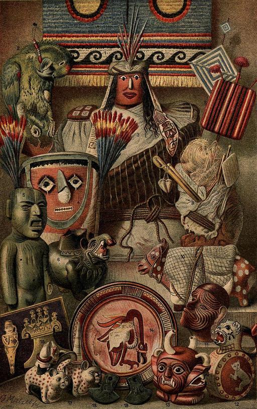Objets d'Amérique du sud et du Mexique
